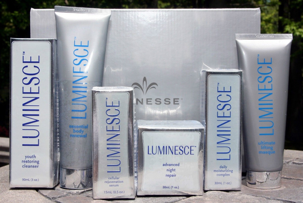 JEUNESSE LUMINESCE KIT OF 6: SERUM MOISTURIZER REPAIR CLEANSER MASQUE RENEWAL