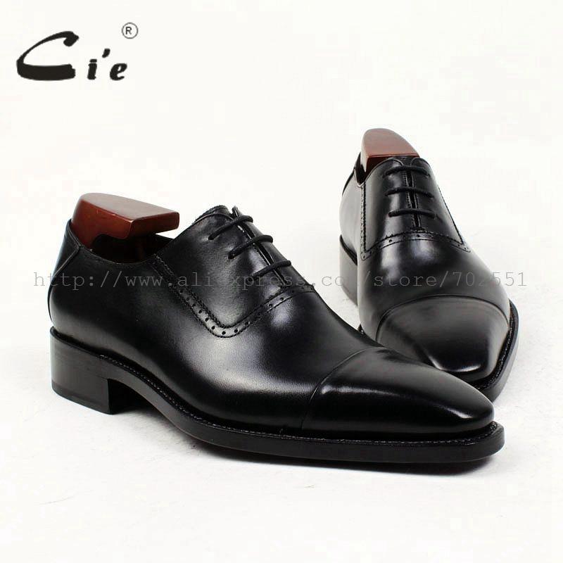 Cie尖ったつま先別注男性靴カスタム革男性靴フラットカーフレザーアッパーアウト