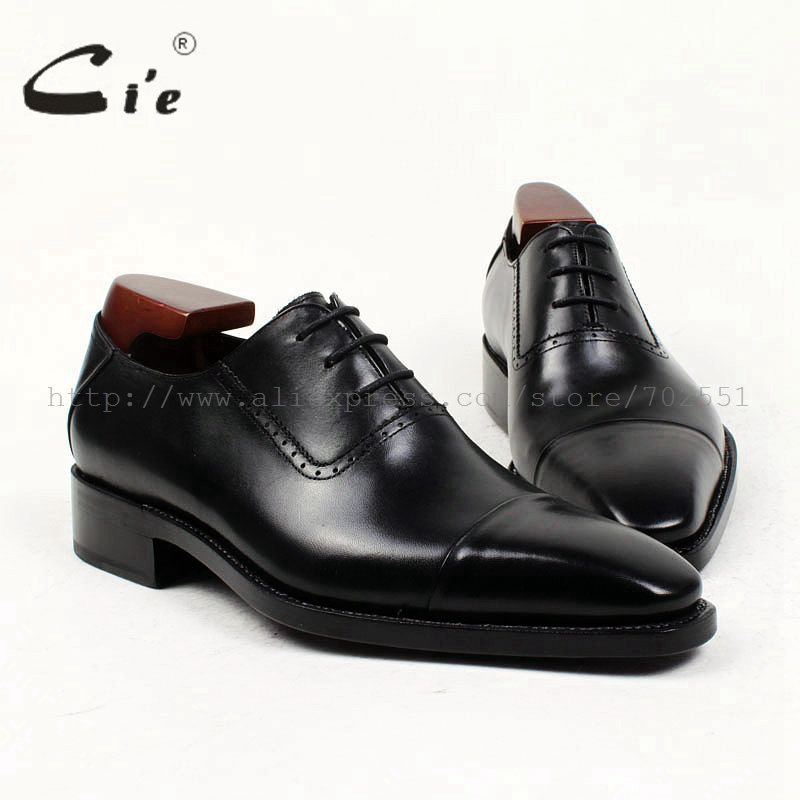 cie pointed toe bespoke men shoe custom leather men shoe flat calf leather upper outsole handmade men'sblack cap toe shoe OX412 obbilly bespoke handmade genuine calf leather upper outsole insole breathable brown cement craft round toe shoe no ox655