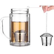 Behokic 2pcs Stainless Steel Mesh Tea Infuser Reusable Strainer Loose Tea Leaf