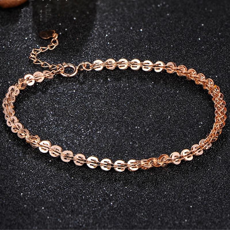 18 k puur goud vrouwen armband gele roos meisje echte echte solide - Fijne sieraden - Foto 2