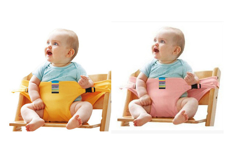 Baby Portable <font><b>Chair</b></font> Foldable Infant <font><b>Dining</b></font> <font><b>High</b></font> Cover Seat Safety Auxiliary belt
