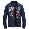 2016 Men Winter Floral Zipper Jackets Coats Outwear Jaqueta Masculina Men Casual Fashion Slim Fit Large Size Veste Homme Jackets