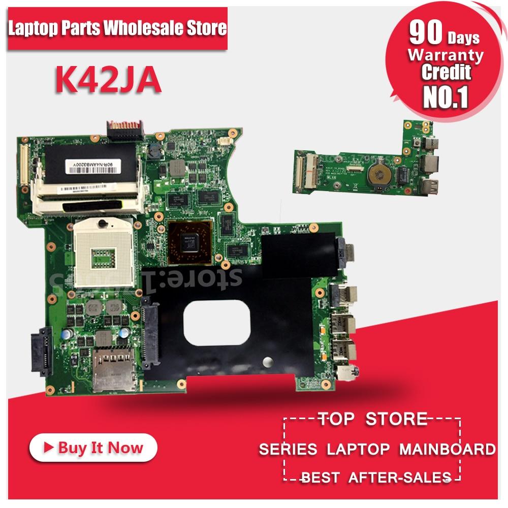 For ASUS K42J K42JA A40J X42J A42J HD5730 2GB REV:2.0 Laptop Motherboard System Board Main Board Card Logic Board Tested Well original k42j for asus laptop k42jr k42j k42jz k42jb k42jy k42jb motherboard main board rev2 0 hm55 chipset fully tested