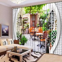 3D Blackout Curtains Beautiful Lifelike Refined HD Elegant 3D Curtains Artistic life Bedroom Living Room Drapes CL 127