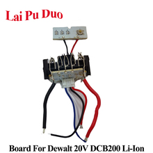 Dewalt 18V 20V 1.5Ah DCB200 li ion pil PCB devre DCB201DCB203 DCB204 Şarj Koruma