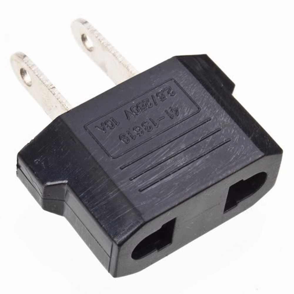 1 piezas de convertidor de cargador de adaptador de enchufe negro UE nos enchufe de alimentación de CA cargador de viaje adaptador de convertidor 10A dropshipping. exclusivo.