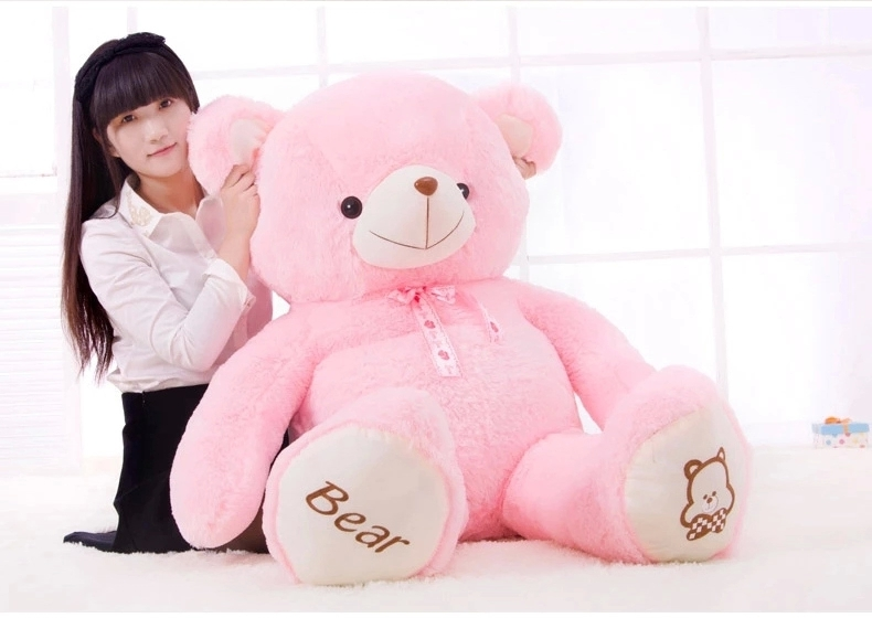 huge 120cm pink teddy bear plush toy soft throw pillow Christmas gift h2859 large 120cm teddy bear plush toy hug love heart plush bear doll soft throw pillow christmas birthday gift x046