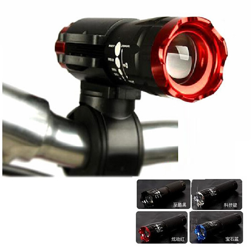 2016 Bicycle Light 3 Colors 5 Watt 2000 Lumens 3 Mode Cree Q3 Led