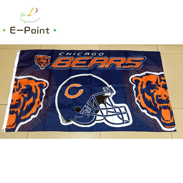 Chicago Bears 3ft*5ft (90*150cm) Size Christmas Decorations for Home ...