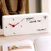 Creatieve DIY klok mute creatieve mode notities handgeschreven message board prikbord wekker