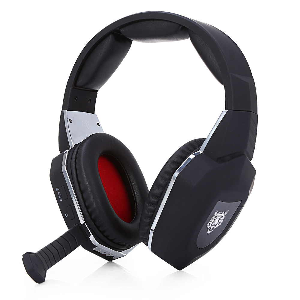 Wired Headphones with Microphone Adjustable Over Ear Gaming Headsets Earphones Low Bass Stereo for Computer PC Aux Head Phone