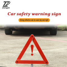 ZD Car For Citroen C5 C4 C3 Mini Cooper Opel Astra H G J Vectra C Saab Reflective Triangle Safety Stop Warning Sign Foldable