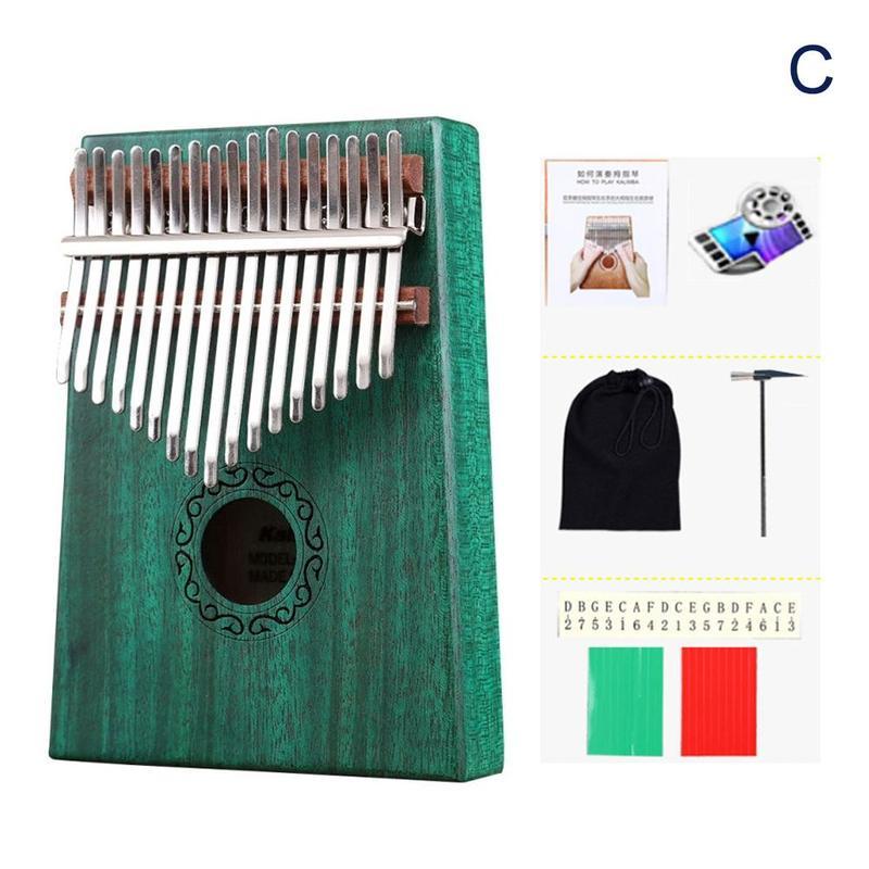 Madeira 17 teclas dedo polegar bolso piano
