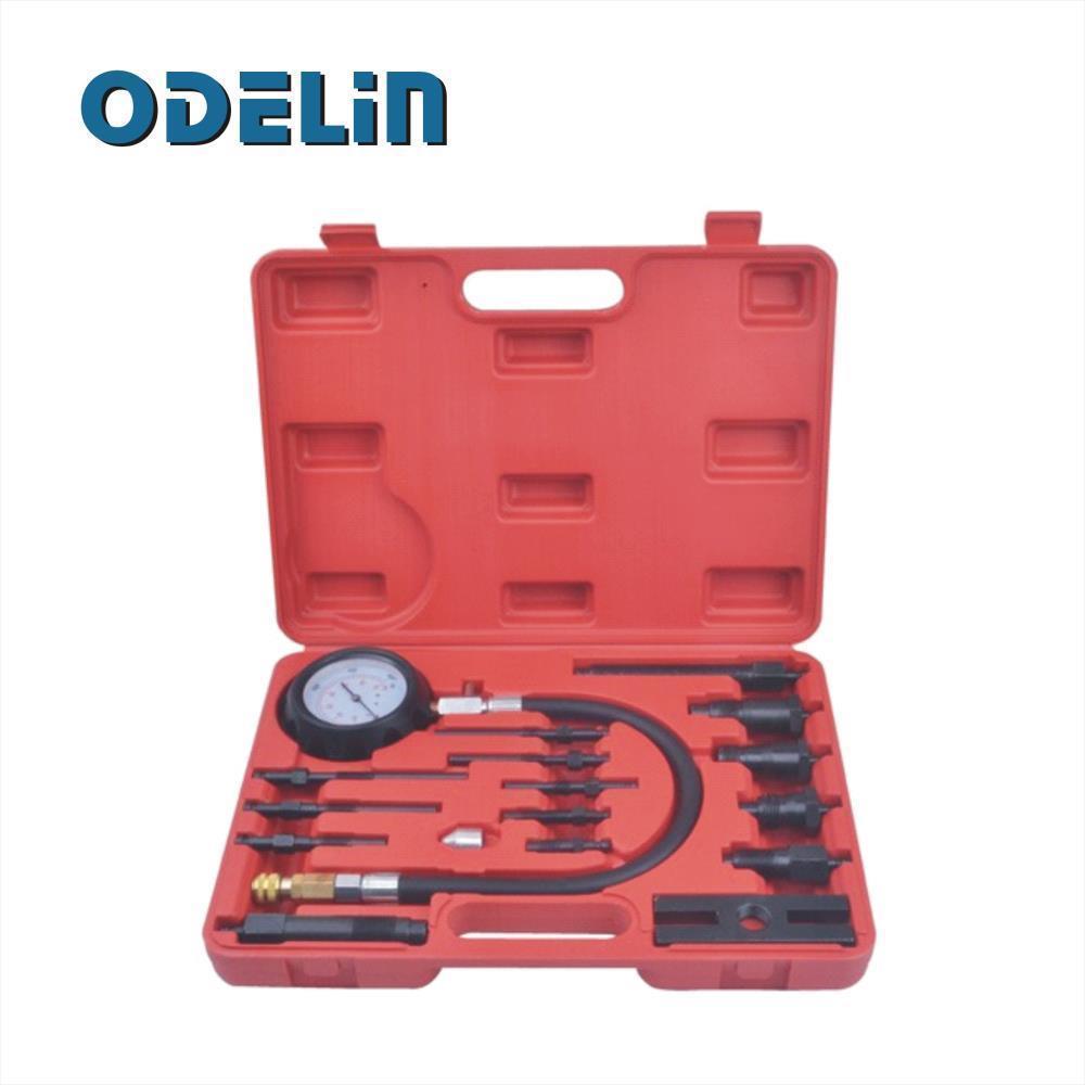 Diesel Engine Cylinder Compression Tester Kit Direct Indirect Truck Automotive Tools
