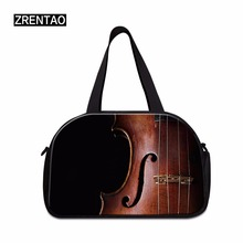 ZRENTAO 3D musical print duffle bags crossbody weekend new fashion high quality women luggage shoulder