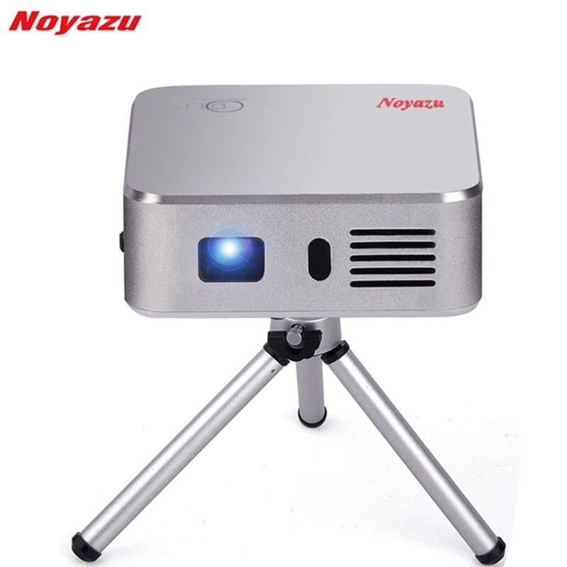 Noyazu E05 Portatile Mini Proiettore LED Wifi Intelligente DLP Pico Proiettore con HDMI/USB di Controllo Senza Fili per la Casa Outdoor viaggi