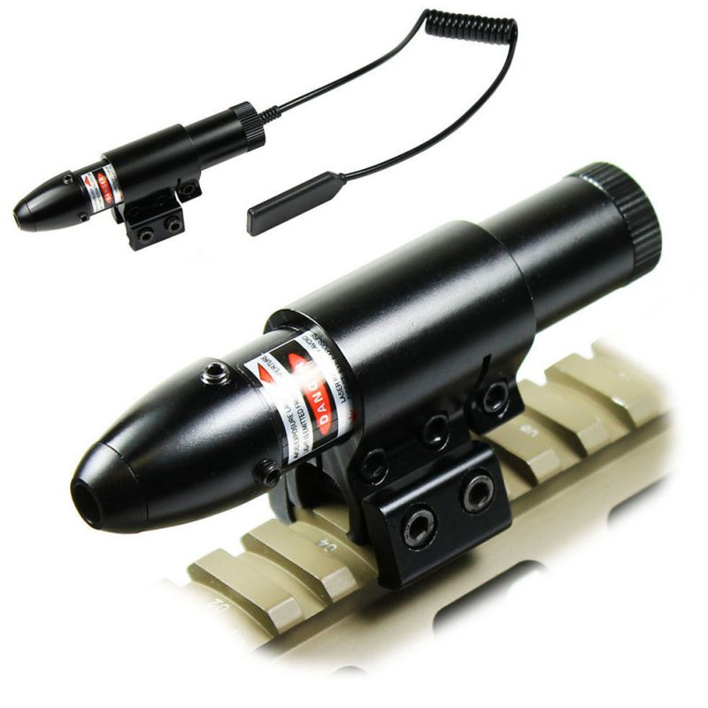 Tactical Optics Waterproof Bullet Red Dot Laser W/Barrel 11mm/20mm Rail Mount Chasse Green Dot Laser Sight Scopes