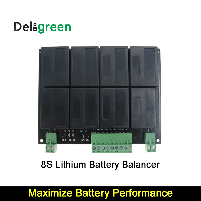8S/24V QNBBM Lithium Battery Equalizer Balancer BMS for LIFEPO4,LTO NCM LMO 18650 DIY Pack 18650 rechargeable lithium lifepo4 battery 1350mah