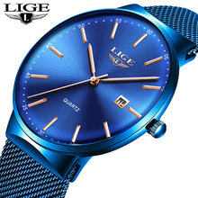 2019 Mens Watches LIGE Top Brand Luxury Waterproof Wrist Watches Ultra Thin Date Simple Casual Quartz Watch For Men Sports Clock olevs mens watches top brand luxury business quartz watch auto date ultra thin watches waterproof simple leather wristwatch 2018