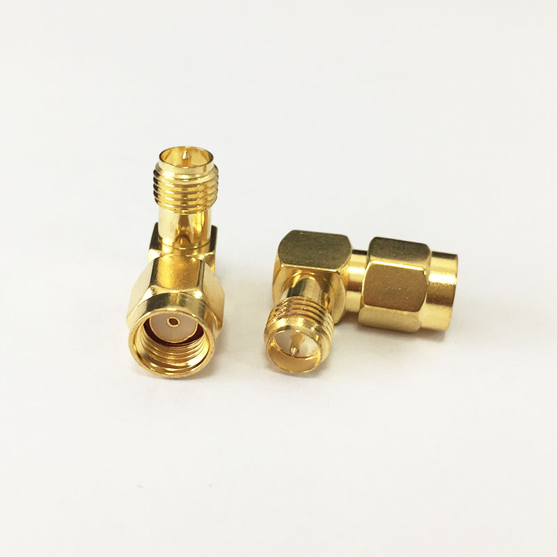 1pc RP SMA Female Jack to RP SMA male plug RF Coax Adapter right angle goldplated NEW for WIFI router