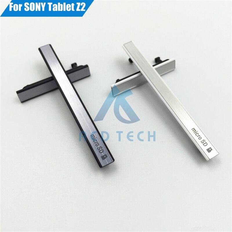 Цена за 5 компл./лот оригинальный новый порт зарядки USB обложка + Micro SD порт + Sim карт памяти пыли разъем для Sony Планшет Z2 SGP541CN/b SGP512CN/w