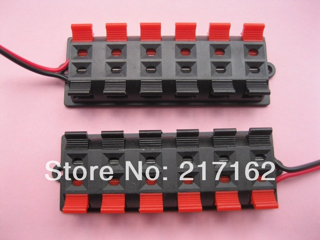 4 pcs red and black 12 way pin speaker terminal board connector rh aliexpress com Wire Connector Types speaker terminal connectors