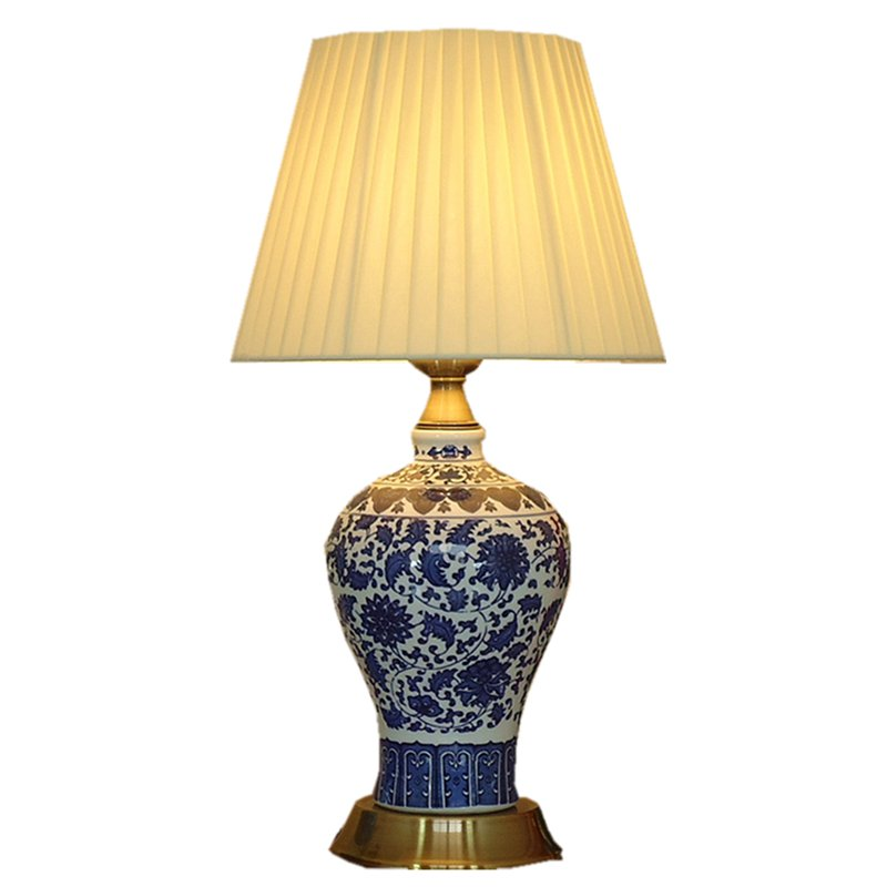 Chinese Ceramic Porcelain Bedroom Bedside Table Light Classical Bronze base Study Room Table Lamp Romantic Fabric Desk Lamp deli 7732 convenient paper sticky note yellow 3 pcs