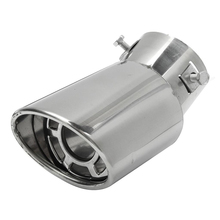 Универсальная автомобильная выхлопная труба из нержавеющей стали, круглая Автомобильная Накладка заднего хвоста, выхлопная труба глушителя