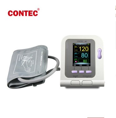CE&FDA Approved  CONTEC08A Digital Arm Blood Pressure Monitor Adult cuff+Child+Pediatric+Neonatalfree cuff Optional Spo2 Probe ems free ship contec08a digital infant use blood monitor cuff spo2 probe