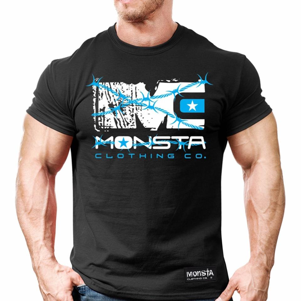 MMA boxing sweatshirt Muscle Men Tee Slim short sleeved font b Fitness b font tiger muay