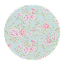 Round Computer Mouse Mat Mice Pad mouse pad gaming Light blue rose Whirlpool pattern Maple Leaf Black