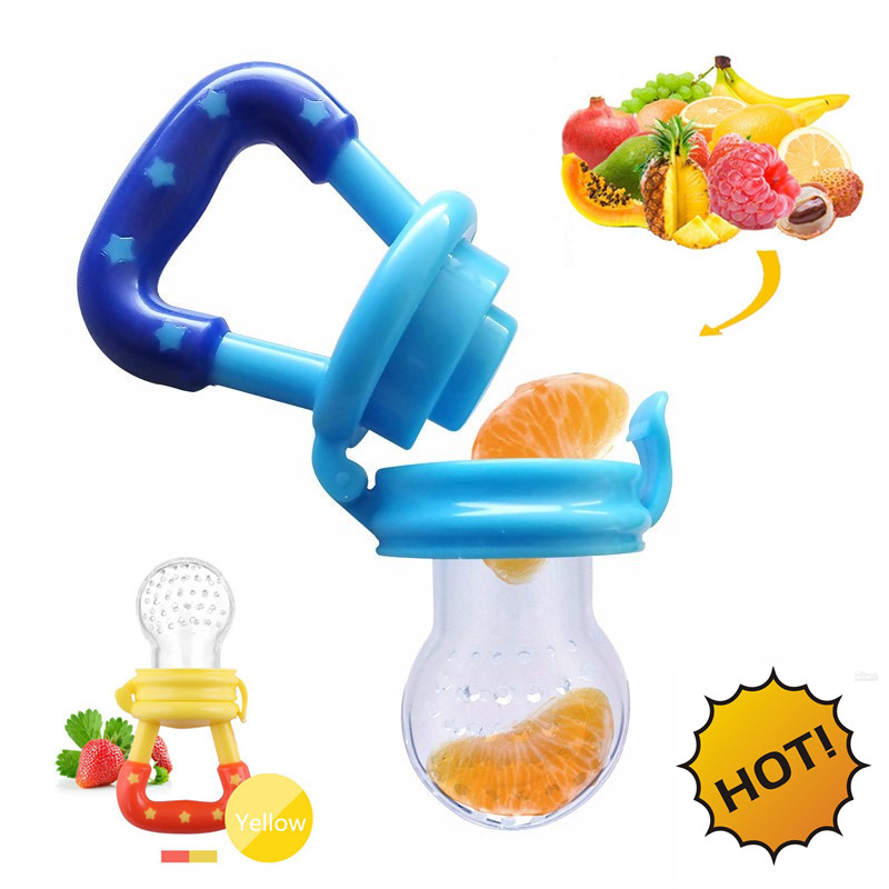 1Pc Baby Pacifier Fresh Fruits font b Food b font Milk Mordedor Silicone Nibbler Feeder Kids
