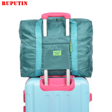 RUPUTIN High Capacity Men And Women Travel Bag Portable Folding Luggage Bag Travel Item Organizer Bag Luggage Zipper Travel Bags