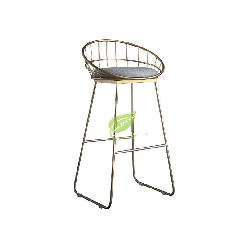 Stool Bar Tabouret De Bar Simple Bar Stool Wrought Iron Bar Chair Gold High Stool Modern Dining Chair Nordic Pub Accessories