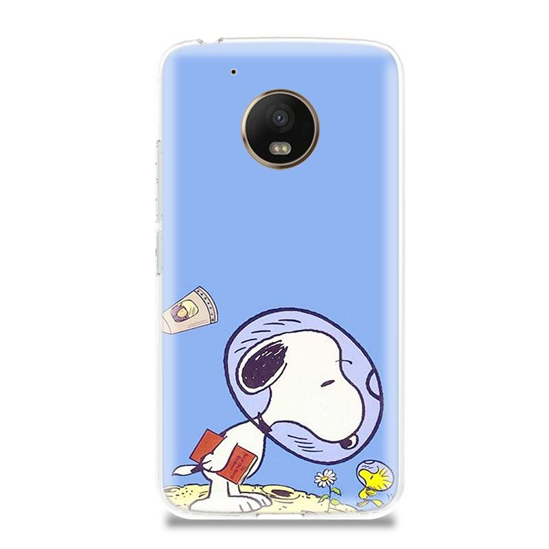 Snoopys Cute Luxury TPU Phone Case For Motorola Moto G7 G6 G5S G5 E4 Plus G4 E5 Play Gift Patterned Customized Coque Cover Shell in Half wrapped Cases from Cellphones Telecommunications