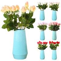 10 Pcs Latex Real Toque Flores Real Como Rosas Artificiais Buquê de Casamento Decoração Da Casa Do Jardim Venda Quente