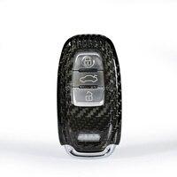 Car Keychain Keyring Carbon Fiber Key Bag Key Fob Central Key Cover For Audi A4L A5 A6L Q5 Q7 S6 A7 A8