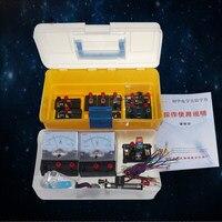 Nieuwe collectie fysieke Elektromagnetisme experiment natuurkunde lab gereedschap set leermiddelen Elektrische test box met CD gratis verzending