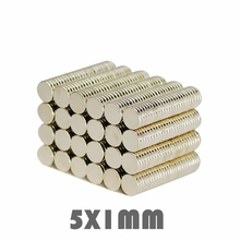 50/100/200pcs 5x1mm Powerful Super Strong Permanent Neodymium Magnet 5 x 1 mm N35 Small Round Rare Earth Neo Neodymium Magnet 100 50 20 super block hole magnet 100 x 50 20 mm powerful craft neodymium rare earth permanent strong n35 n35