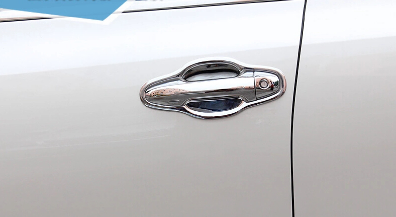 ABS Side Door Handle Cover & Handle Bowl For Toyota Highlander 2014 2015 2016 2017 Without smart key Hole