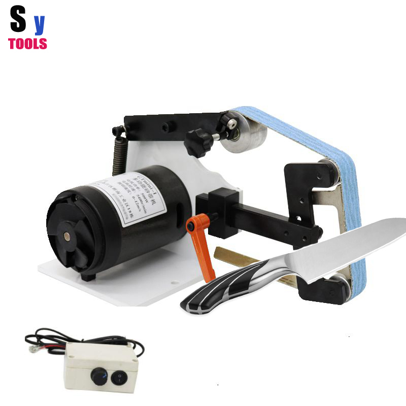 professional Knife grinding sharpener metal Polishing machine Deburring metal DIY tools 220V GTmini Abrasive Belts machine