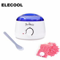 ELECOOL Professional Hair Remove Sets Wax Heater Pot Wax Beans 100g 1pc White Brush Painless Waxing