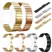 Bonne Qualité bracelets montres bracelet Rose Or Milanese + En Acier Inoxydable Bracelet Bracelets Bracelet + HD Film Pour Samsung Gear S3 bretelles