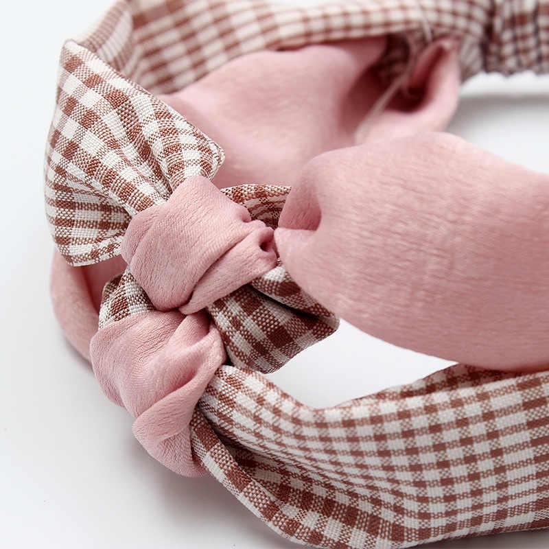 2018 Летняя мода резинки для женщин девочек узел головная повязка в виде чалмы повязка на голову аксессуары для упаковки для женщин повязки на голову