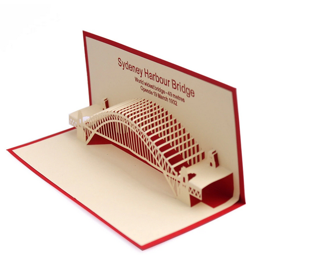 2014 new creative new year greeting card pure handmade 3d cards 2014 new creative new year greeting card pure handmade 3d cards sydney harbor bridge business birthday wishes cards in festive party supplies from home m4hsunfo