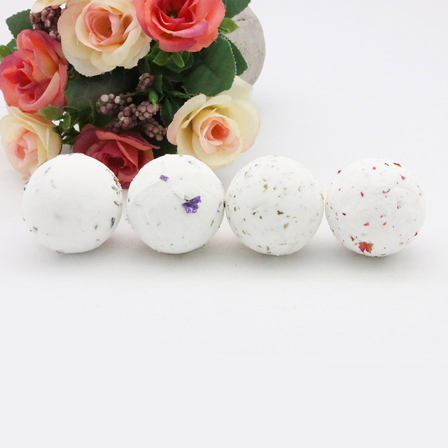 40g Bath Bomb Shower Fizzy,Natural Dried Flowers Spa Bomb Bath Salt Moisturizing Skin Spa Bomb Ideal Gift for Women 3
