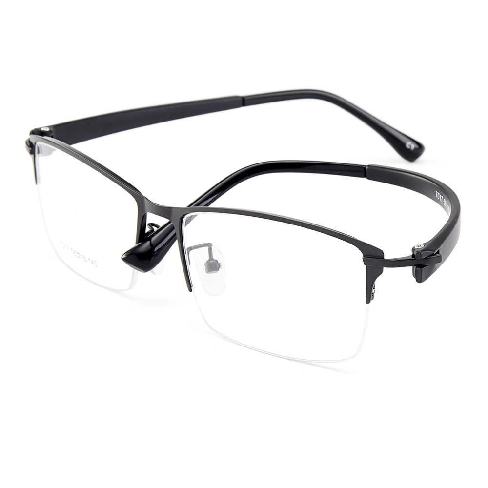 Gmei Homens Ópticos Armações de Óculos De Liga de Titânio para Homens Óculos Templos Flexíveis Pernas IP Galvanoplastia Liga Óculos Y7017