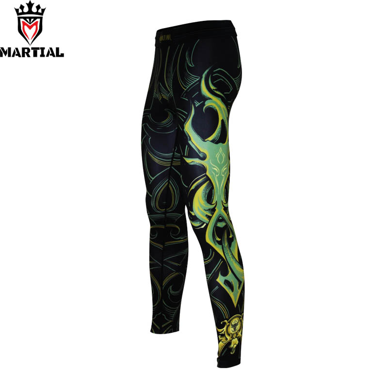 Martial : Taurus printed designs fitness running sport legging for men muay thai pants fitness crossfit leggings