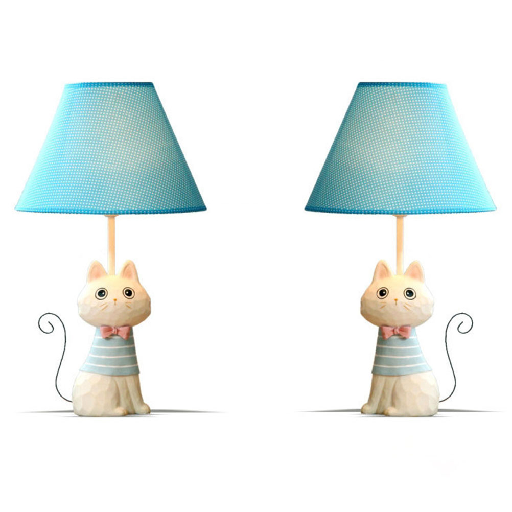 Child room table lamps cartoon model cute cat iron tail reading child room table lamps cartoon model cute cat iron tail reading light table lamp simple study work bedroom table lighting in desk lamps from lights geotapseo Choice Image